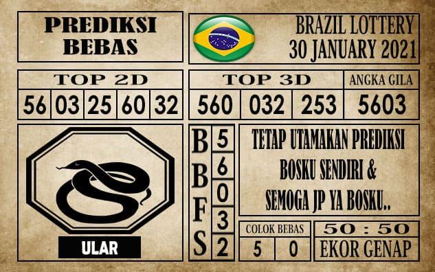 Prediksi Brazil Lottery Hari Ini 30 Januari 2021