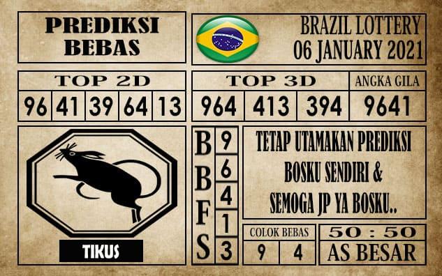 Prediksi Brazil Lottery Hari Ini 06 Januari 2021 terupdate selalu dihadirkan sebagai pertimbangan untuk pecinta togel online dalam meracik angka unggulan