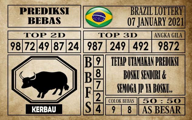 Prediksi Brazil Lottery Hari Ini 07 Januari 2021