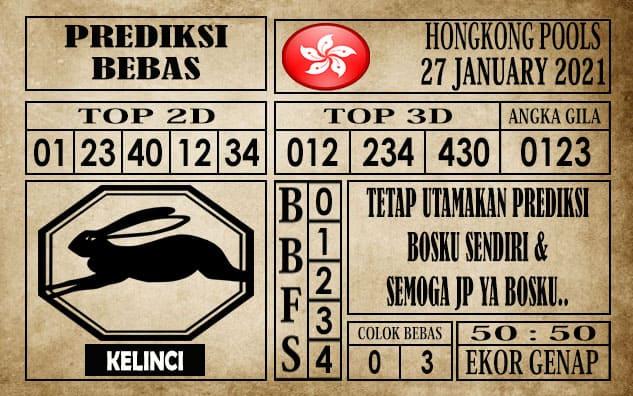 Prediksi Hongkong Pools Hari Ini 27 Januari 2021
