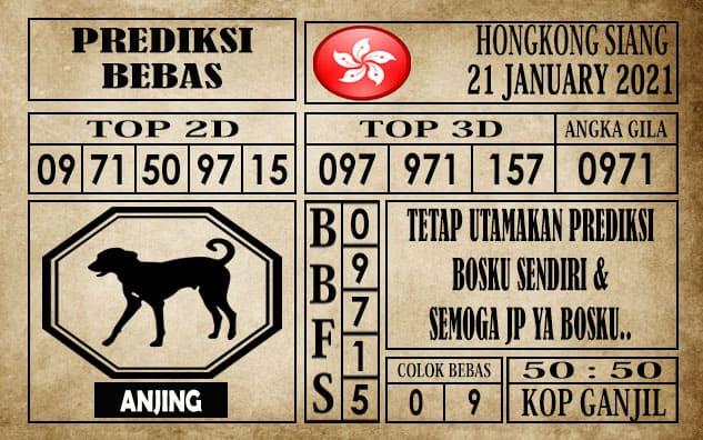 Prediksi Hongkong Siang Hari Ini 21 Januari 2021