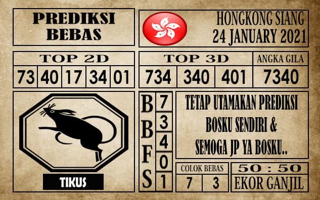 Prediksi Hongkong Siang Hari Ini 24 Januari 2021