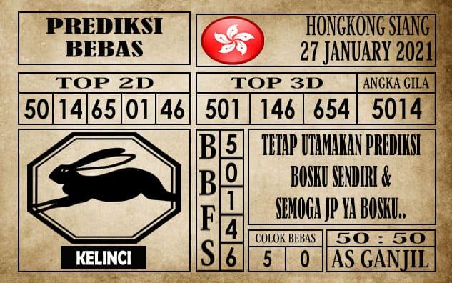 Prediksi Hongkong Siang Hari Ini 27 Januari 2021