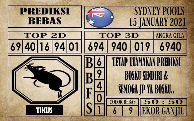 Prediksi Sydney Pools Hari Ini 15 Januari 2021
