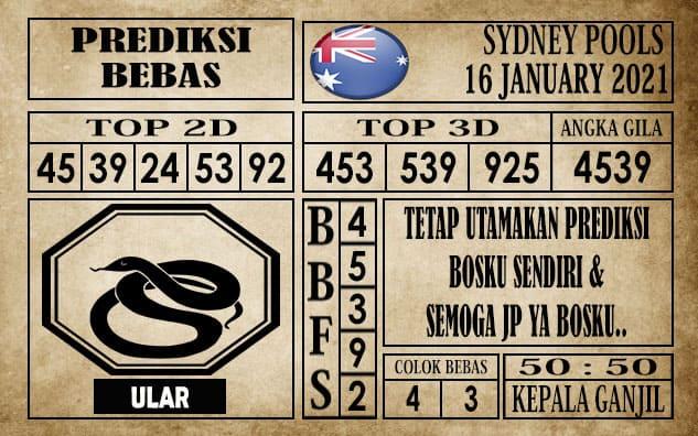 Prediksi Sydney Pools Hari Ini 16 Januari 2021