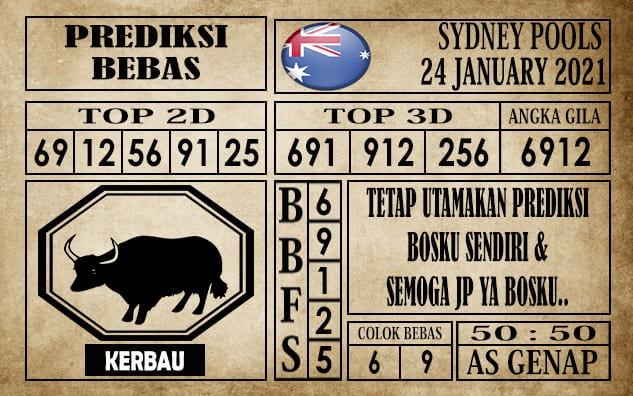 Prediksi Sydney Pools Hari Ini 24 Januari 2021