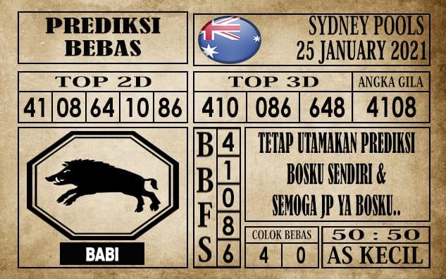 Prediksi Sydney Pools Hari Ini 25 Januari 2021
