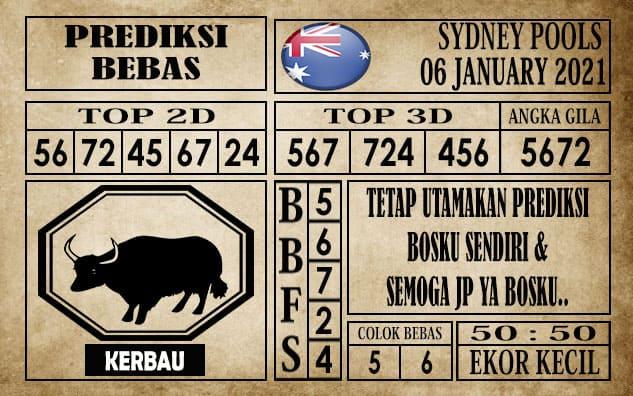 Prediksi Sydney Pools Hari Ini 06 Januari 2021 terupdate selalu dihadirkan sebagai pertimbangan untuk pecinta togel online dalam meracik angka unggulan