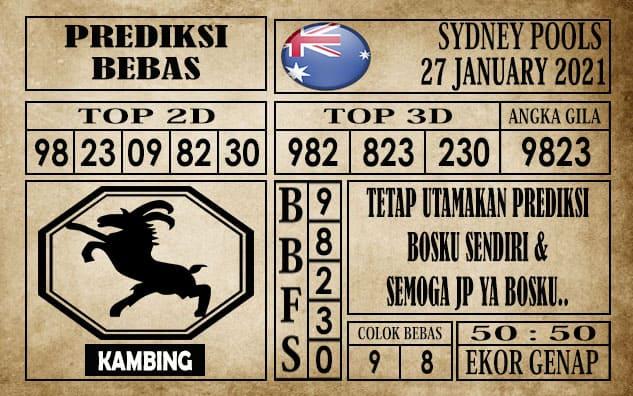 Prediksi Sydney Pools Hari Ini 27 Januari 2021