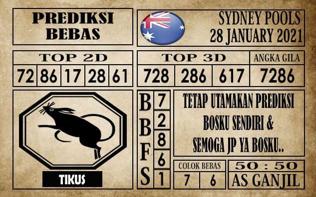 Prediksi Sydney Pools Hari Ini 28 Januari 2021