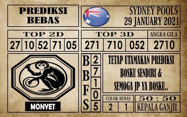 Prediksi Sydney Pools Hari Ini 29 Januari 2021