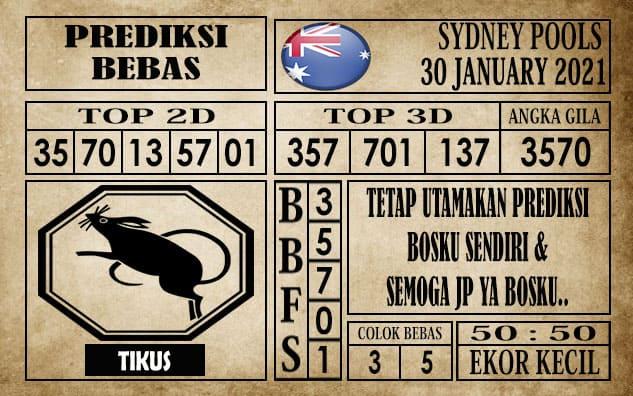 Prediksi Sydney Pools Hari Ini 30 Januari 2021