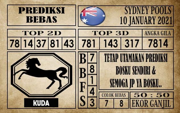 Prediksi Sydney Pools Hari Ini 10 Januari 2021