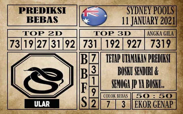Prediksi Sydney Pools Hari Ini 11 Januari 2021