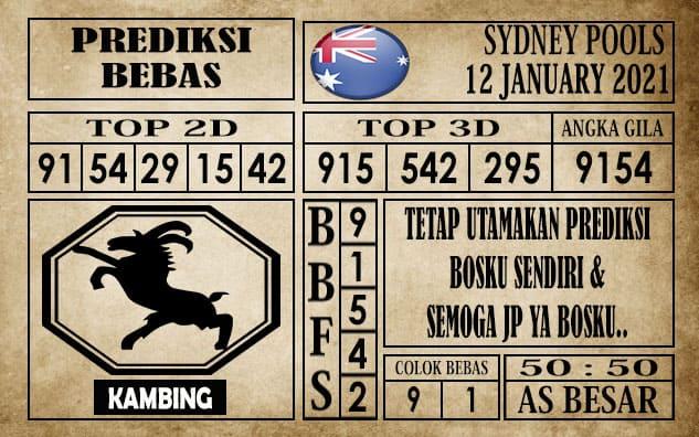 Prediksi Sydney Pools Hari Ini 12 Januari 2021