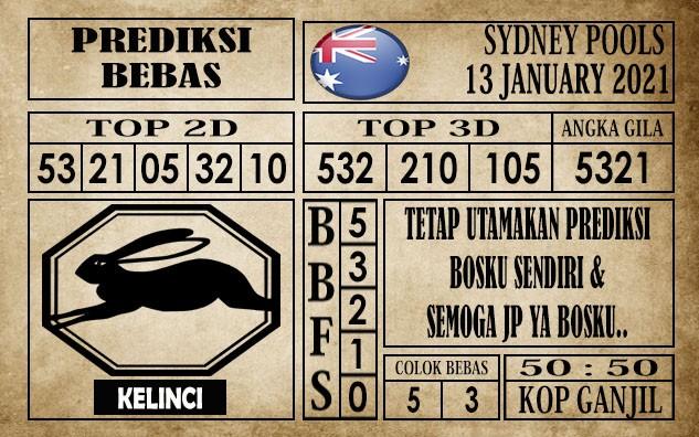 Prediksi Sydney Pools Hari Ini 13 Januari 2021