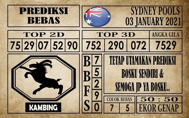 Prediksi Sydney Pools Hari Ini 03 Januari 2021
