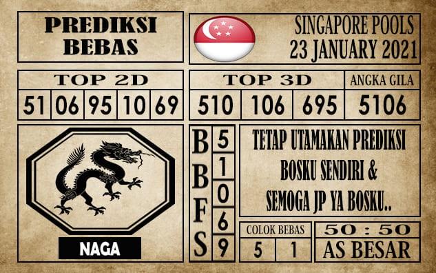Prediksi Singapore Pools Hari ini 23 Januari 2021