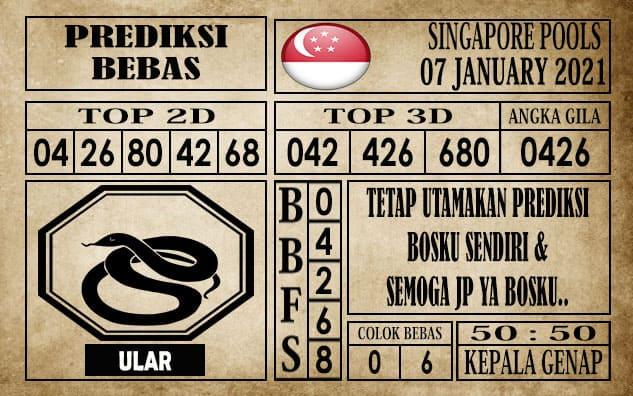 Prediksi Singapore Pools Hari ini 07 Januari 2021