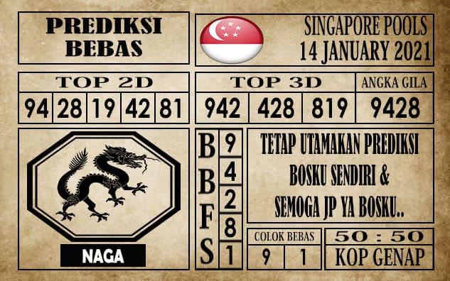 Prediksi Singapore Pools Hari ini 14 Januari 2021