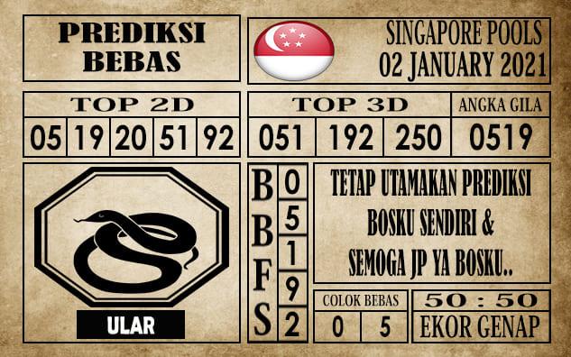 Prediksi Singapore Pools Hari ini 02 Januari 2021