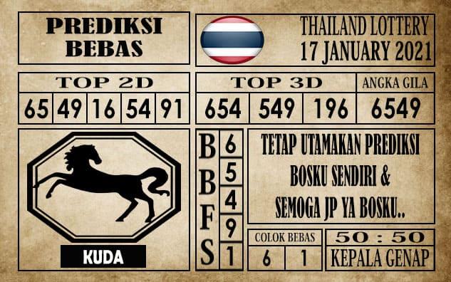 Prediksi Thailand Lottery Hari Ini 17 Januari 2021