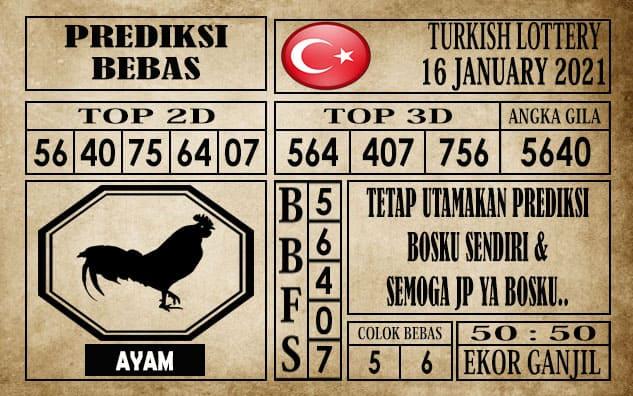Prediksi Turkish Lottery Hari Ini 16 Januari 2021