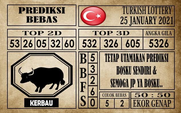 Prediksi Turkish Lottery Hari Ini 25 Januari 2021
