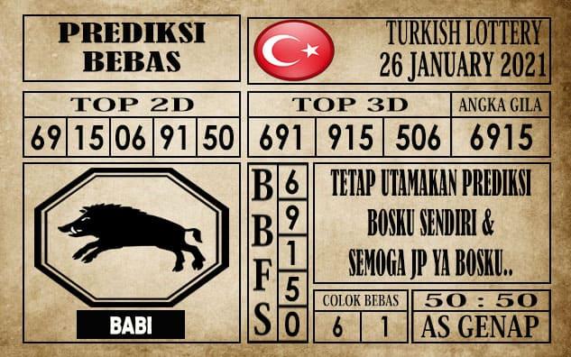 Prediksi Turkish Lottery Hari Ini 26 Januari 2021