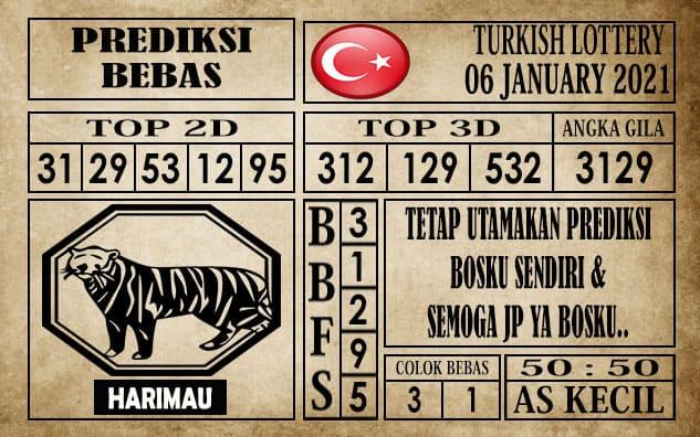 Prediksi Turkish Lottery Hari Ini 06 Januari 2021 terupdate selalu dihadirkan sebagai pertimbangan untuk pecinta togel online dalam meracik angka unggulan
