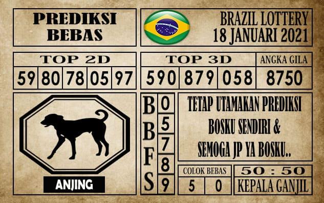 Prediksi Brazil Lottery Hari Ini 18 Januari 2021