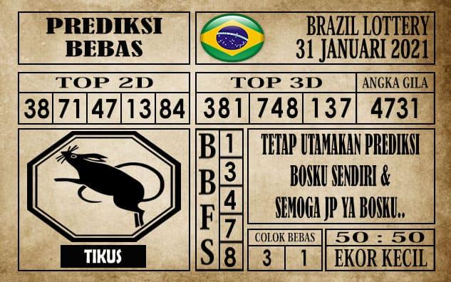 Prediksi Brazil Lottery Hari Ini 31 Januari 2021