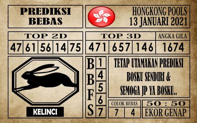 Prediksi Hongkong Pools Hari Ini 13 Januari 2021