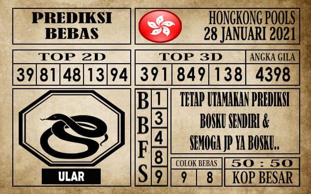 Prediksi Hongkong Pools Hari Ini 28 Januari 2021