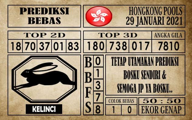 Prediksi Hongkong Pools Hari Ini 29 Januari 2021