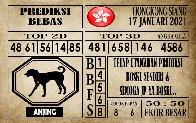 Prediksi Hongkong Siang Hari ini 17 Januari 2021