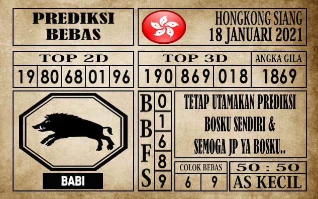 Prediksi Hongkong Siang Hari ini 18 Januari 2021