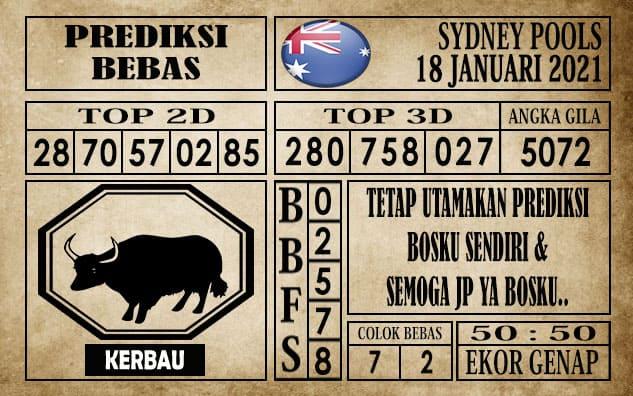 Prediksi Sydney Pools Hari ini 18 Januari 2021