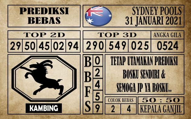 Prediksi Sydney Pools Hari ini 31 Januari 2021