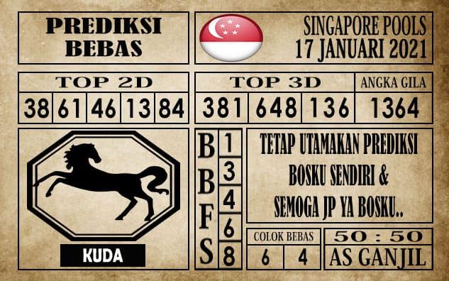 Prediksi Singapore Pools Hari ini 17 Januari 2021