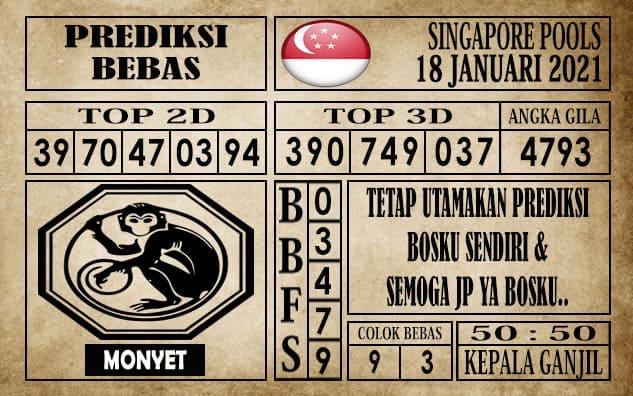 Prediksi Singapore Pools Hari ini 18 Januari 2021
