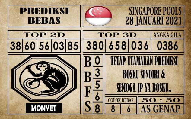 Prediksi Singapore Pools Hari ini 28 Januari 2021