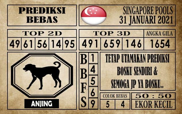 Prediksi Singapore Pools Hari ini 31 Januari 2021