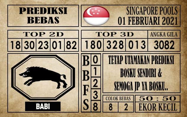 Prediksi Singapore Pools Hari ini 01 Febuari 2021