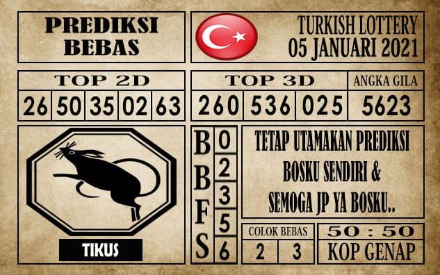 Prediksi Turkish Lottery Hari ini 05 Januari 2021