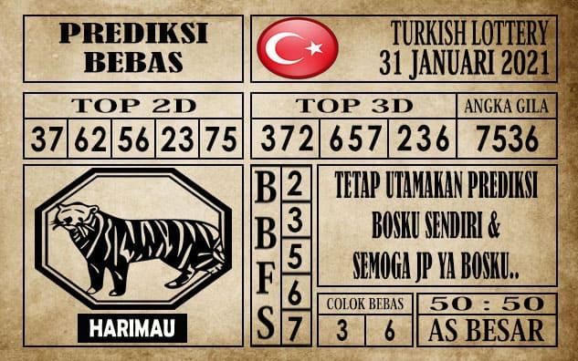 Prediksi Turkish Lottery Hari ini 31 Januari 2021