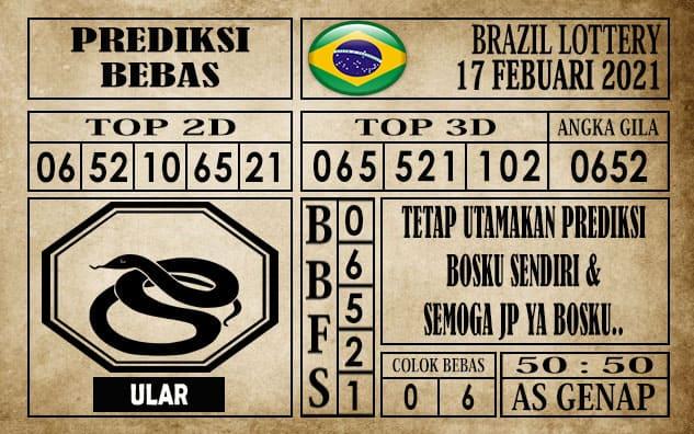 Prediksi Brazil Lottery Hari Ini 17 Februari 2021