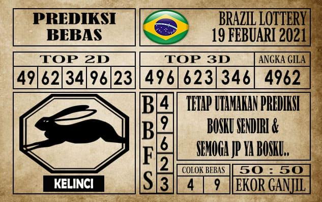 Prediksi Brazil Lottery Hari Ini 19 Februari 2021