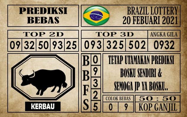 Prediksi Brazil Lottery Hari Ini 20 Februari 2021