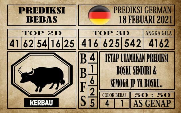 Prediksi Germany Hari Ini 18 Februari 2021
